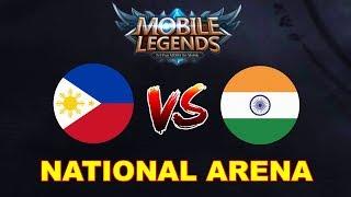 Philippines vs India National Arena & Custom Games | Mobile legends Season 9