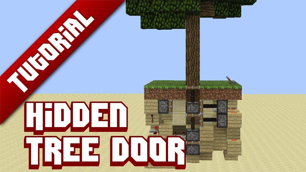 Minecraft Tutorial: Hidden Tree-Door - YouTube