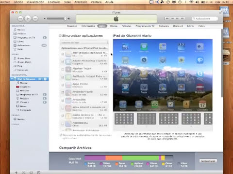 Compartir documentos entre Mac y iPad