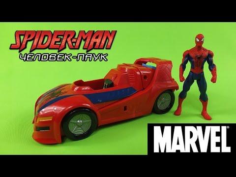 Человек Паук и его Гоночная Машинка - Обзоры интересных игрушек