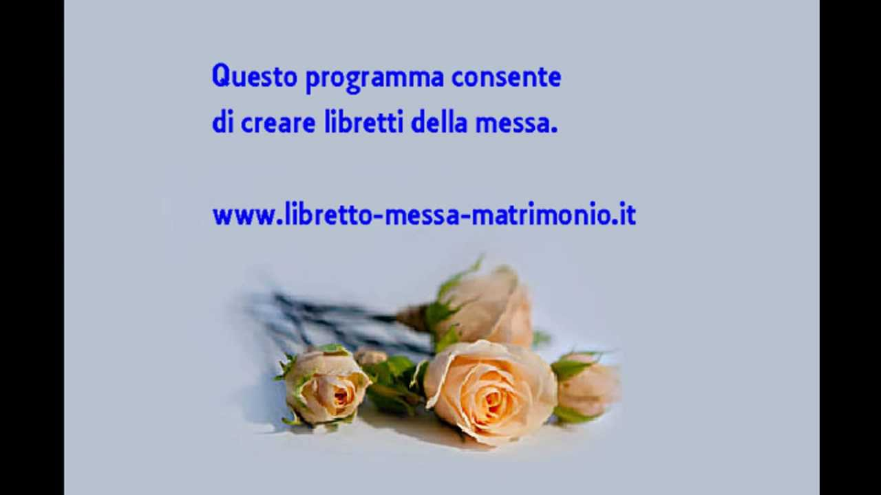 Libretto Matrimonio Word : Libretto messa matrimonio o giornale degli sposi con