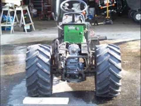 John Deere 318 L&G tractor rebuild picture video
