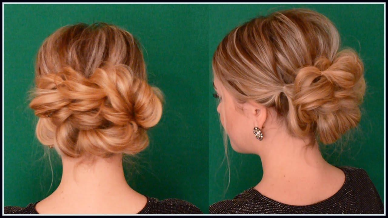 Причёска на средние волосы своими руками с резинками