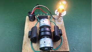 How to make new diy project science experiment - Free energy generator with magnet using dc motors