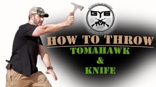 HOW TO THROW a-  Knife / AXE / Tomahawk