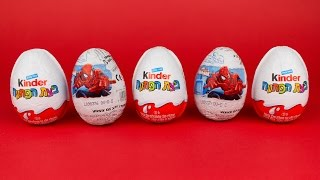 Spider Man And ביצת הפתעה Surprise Eggs