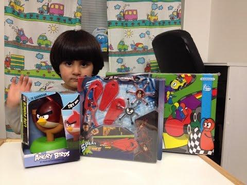 Unboxing Angry Bird Lite: Spiderman:faverelly مفاجاة اطفال العاب اطفال سيارات اطفال