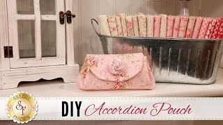 DIY Accordion Pouch | a Shabby Fabrics Sewing Tutorial