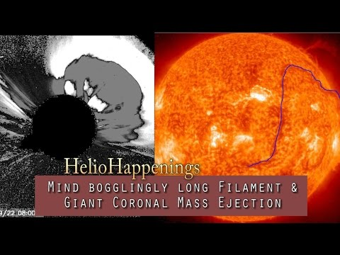 The Sun Situation - Mind bogglingly long Filament & Giant CME