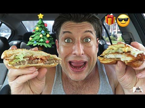 Happy Holidays🎄 Burger King MUKBANG #21 - Big Fish Sandwich, Whopper, Double Cheese Burger, Dessert thumbnail