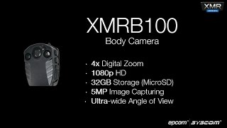 EPCOM XMRB100 1080p HD Body Camera 4x Digital Zoom 32GB Storage