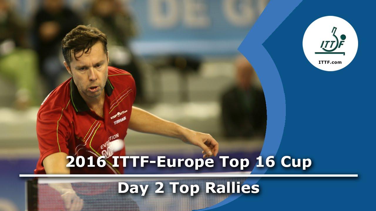 2016 ITTF-European Top 16 - Day 2 Top Rallies