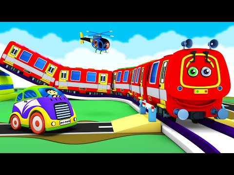 Red Caterpillar Thomas Cartoon Train: Choo Choo Toy Factory Cartoon Train Videos