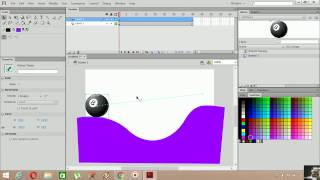 Flash Cs6 AS 3.0 Animasyon Örnekleri 14 (Ease, Rotate, Motion Tween)