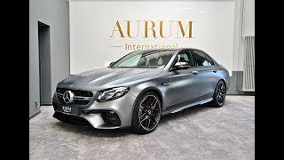 MERCEDES-BENZ E 63 AMG S 4MATIC+ *EDITION 1* Selenitgrau magno Walkaround by AURUM International
