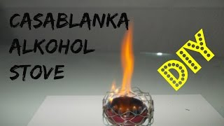 Alcohol Stove for under 5 min.