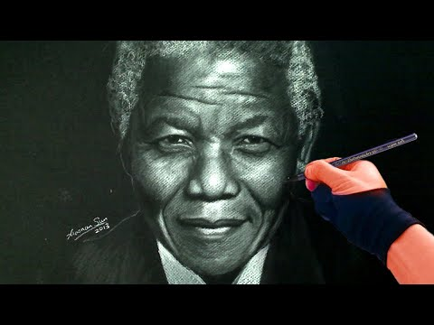 Nelson Mandela Portrait Drawing Video
