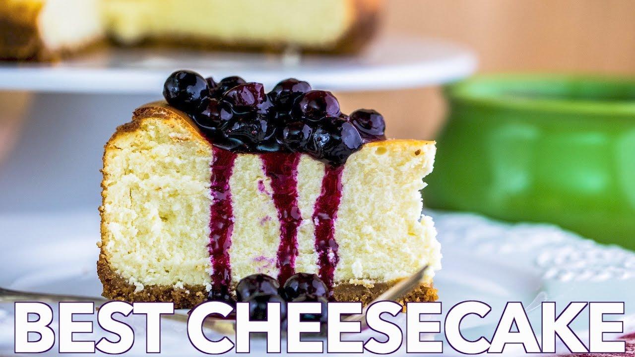 Dessert: Best Cheesecake with Blueberry Topping - Natashas Kitchen ...