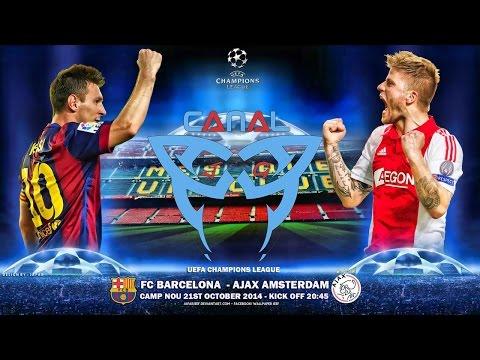 Barcelona 03 x 01 Ajax AO VIVO Liga dos Campeões (21-10-2014) [CanalJGEsportes]