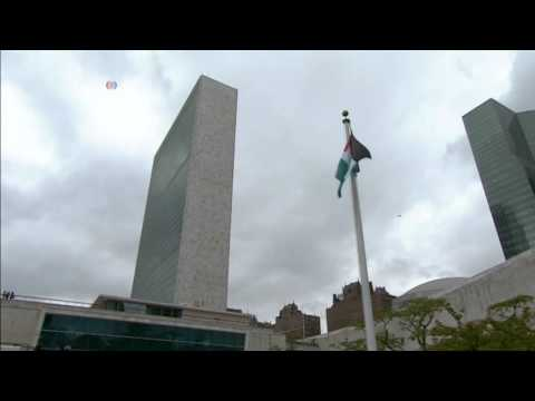 The Flag Of Palestine Flies High At UN Headquarters