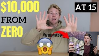 How I Lost $1,000 And Then Turned $0 Into $10,000 (15 Years Old)