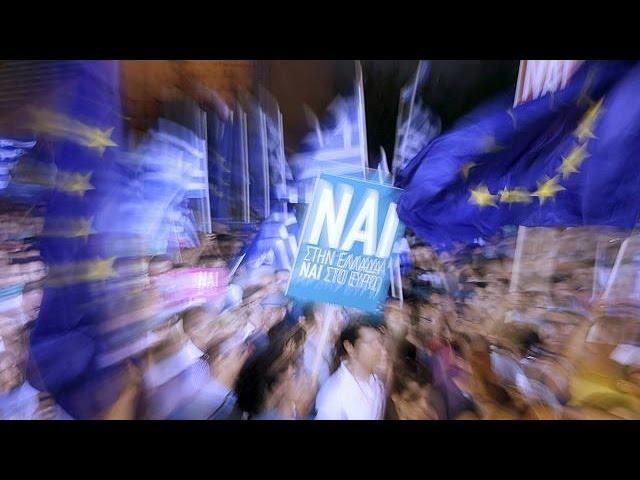 """Référendum : 22.000 supporters du """"oui"""" rassemblés à Athènes"""