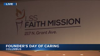 NBC4 takes part in Founder's Day of Caring at Faith Mission