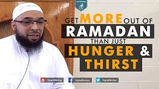 Get More out of Ramadan Than Just Hunger & Thirst – Dr Tahir Wyatt