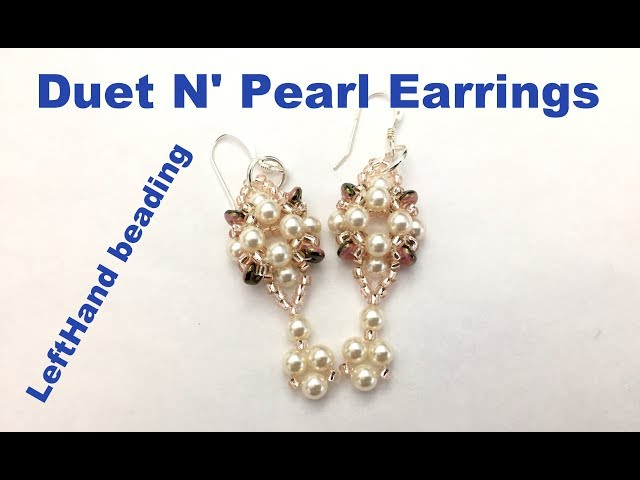 Duet n Pearl Earrings--- Beading Tutorial Left hand