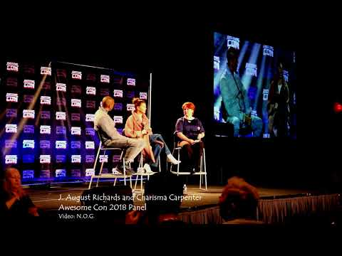 J. August Richards and Charisma Carpenter, Awesome Con 2018 Panel