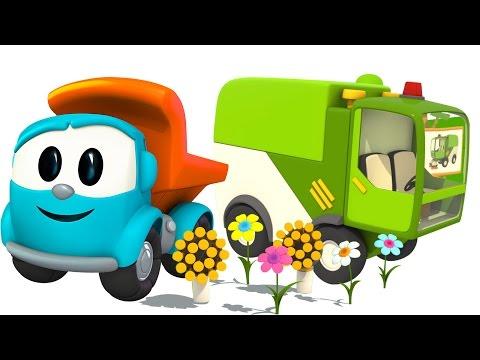 Грузовичок Лёва - машинки конструктор - Уборочная Машина - Мультики для детей