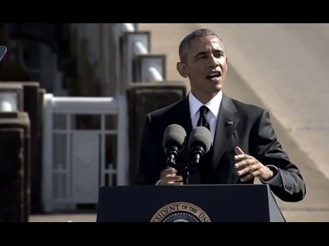 President Obama Selma Speech 2015 on 50th 'Bloody Sunday' at Edmond Pettus Bridge, Alabama