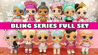 LOL Surprise BLING SERIES FULL SET | L.O.L. Holiday Dolls Complete Collection | Christmas Glitter