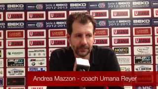 Dichiarazioni prepartita coach Mazzon