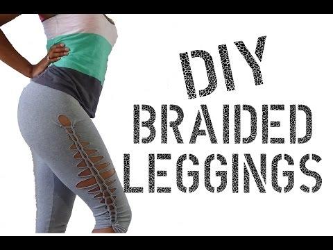 DIY How to  make Cutout Leggings