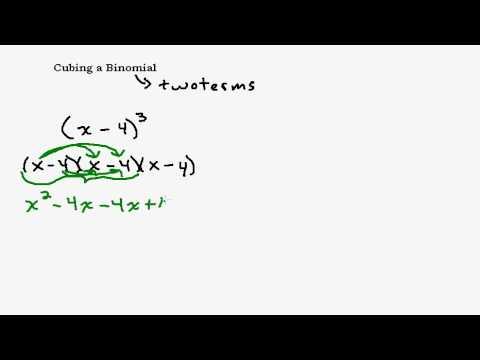 Cubing A Binomial Taking A Binomial To The Third Power