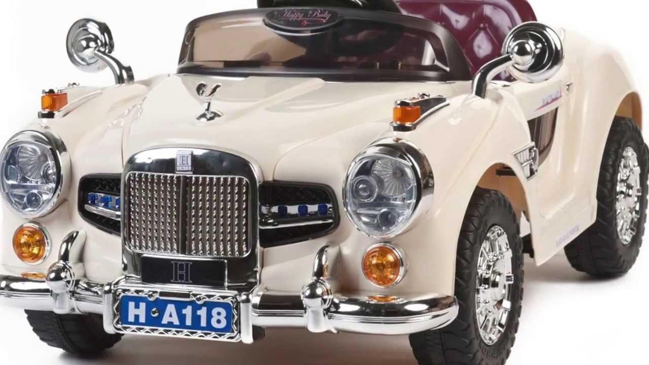 Vintage 12v Rolls Royce Style Kids Ride On Car - YouTube