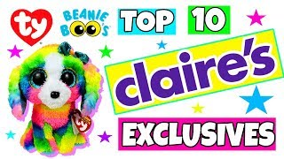 Top 10 Claire's accessories exclusive Beanie boos