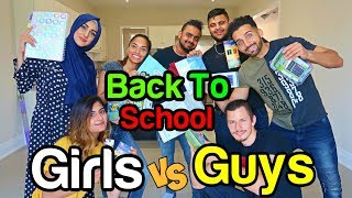 GUYS VS GIRLS - $20 Back To School CHALLENGE