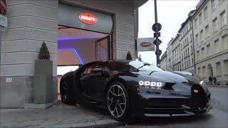Bugatti Chiron arrives at dealership, Bugatti Veyron leaves dealership | Start ups, Carporn!!!