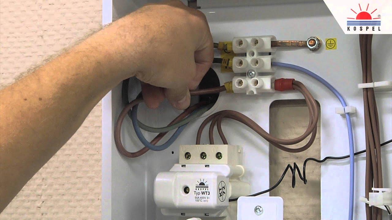Схема подключения электрического котла коспел5