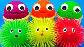 3 Colors Play Doh Ice Cream Cups Chupa Chups Hedgehog Trolls Shopkins Yowie Kinder Surprise Eggs