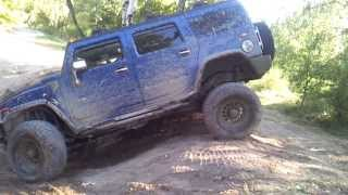 Hummer H2 off road and extreme tilt in MIlovice 2/2