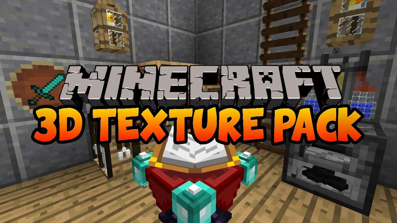 Default 3D Minecraft Texture Pack 1.8 / 1.7.10 - YouTube