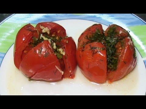 Помидоры запеченные в фольге в духовке. Gebackene Tomaten
