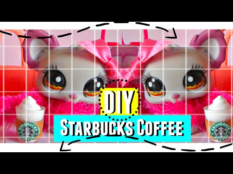 Lps DIY: Starbucks Coffee HD ♥
