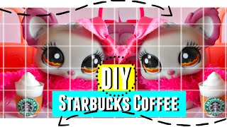 Lps DIY: Starbucks Coffee HD ♥ (Subtitles on English)