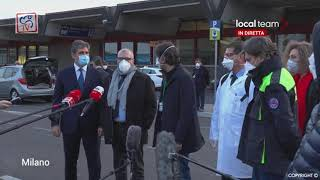 Special Medical Corps in Africa battles the deadly Ebola epidemic in Milan this afternoon