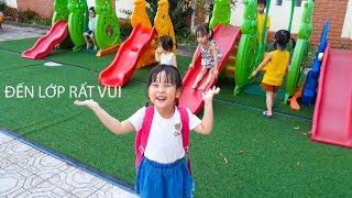 Kid Go To School ♥ Bé Xu Xu 4 tuổi đi học KHÔNG KHÓC NHÈ  ♥ Đi lớp rất là vui