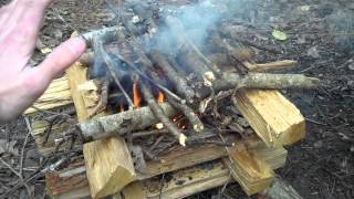 The Log Cabin Fire and Lunch in the Woods